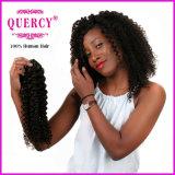 Extensão brasileira Curly do cabelo humano de onda de água de Remy do Virgin do ser humano da qualidade superior 100%