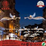 Ange IP65 d'étoile de DEL Holliday extérieur à travers la lumière de Noël de Pôle de rue pour la décoration