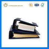 Libro duro del Alambre-o de la cubierta del cuero del atascamiento espiral (impresión del libro de la alta calidad)