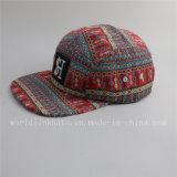習慣5のパネルの3D刺繍パッチが付いている平らな縁の帽子