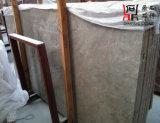 Brame de marbre grise Aspen de matériau de construction de qualité pour le revêtement de partie supérieure du comptoir/plancher/mur