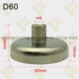 D60mm de Aangepaste Magnetische Component van de Draad van de Grootte Interne, Sterke Magneet