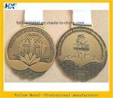 La médaille faite sur commande pour le sport de marathon avec le moulage mécanique sous pression, doubles côtés