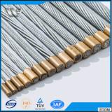 7本のワイヤーによって電流を通される鋼鉄残されたワイヤー