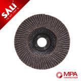 Abrasivo de la alta calidad que pule la rueda calcinada de la solapa del óxido del alúmina de madera de metal del acero inoxidable