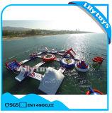 Het drijvende Park van het Water Aqua van het Eiland Volwassen Opblaasbare Drijvende voor Verkoop