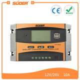 O controlador solar impermeável da carga do projeto o mais atrasado de Suoer com USB dobro coneta (ST-C1210)