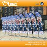 Bandierina palo promozionale della piuma per la pubblicità di evento