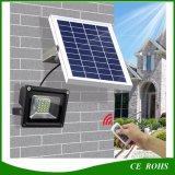Lâmpada solar solar de controle remoto do jardim do projector da luz de inundação do diodo emissor de luz da chegada a mais nova ajustável 20 do brilho