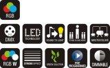 Luz mágica del efecto de la bola LED para el funcionamiento de la etapa