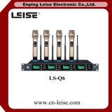 Ls-Q6 4 de Digitale Audio UHF Draadloze Microfoon van Kanalen