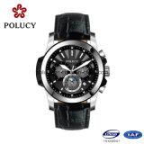 Kundenspezifische Luxuxchronograph-Uhr-Männer Leder bilden