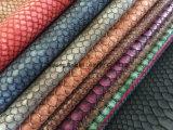耐火性のソファーか家具または女性BagのためのヘビPUの革