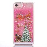 iPhone 5를 위한 호화스러운 Bling 반짝임 불꽃 케이스를 뜨는 크리스마스 나무 Rudolph 패턴
