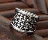El anillo de la manera del anillo del cráneo de la joyería de los hombres del acero inoxidable vende al por mayor el anillo del regalo del anillo