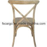 Présidence rustique en bois de hêtre de dos de croix de X-Back avec les graines blanches (CGW1606)