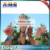 Bracelet tissé par IDENTIFICATION RF inodore polychrome pour la festivité