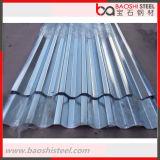 Hoja acanalada galvanizada del material para techos del cinc de acero de Alu del Galvalume