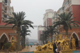 Al aire libre grande de fibra de vidrio decorativo artificial Fecha de la palmera
