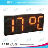 Outdoor Jumbo High Brightness Waterproof LED Time Sign com exibição de temperatura 88: 88