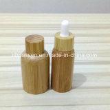 Frasco cosmético do animal de estimação plástico novo da chegada com conta-gotas de bambu (PPC-BS-003)