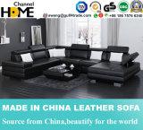 Headrest moderno e braço Home do sofá do couro da mobília ajustáveis (HC1037)