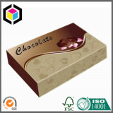 Caisse d'emballage augmentée lustrée de chocolat de papier de carton de logo