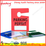 Impression de carte d'étiquette d'oscillation d'étiquette d'étiquette de coup de stationnement de véhicule