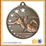 Medalla caliente de encargo de la natación del deporte del bronce de la plata del oro de la venta