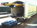 De Goederenwagon van de Wagen van de Mijn van de spoorweg