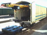 Железнодорожный товарный вагон фуры шахты