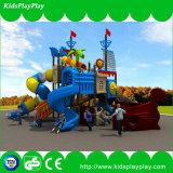 A série do navio de pirata da corrediça do jogo de crianças caçoa o campo de jogos ao ar livre bonito