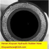 Boyau hydraulique en caoutchouc flexible résistant de tuyau de pétrole spiralé