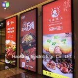доска меню картинной рамки освещенная контржурным светом СИД дюйма 24X48 для быстро-приготовленное питания трактира рекламируя индикацию