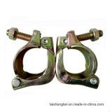 Coupleur en acier appuyé coréen d'émerillon d'échafaudage avec la surface galvanisée