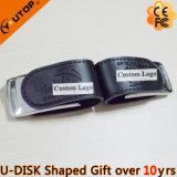 유행 실크스크린 로고 검정 가죽 USB 지팡이 (YT-5116)