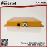 베스트셀러 제품 GSM Dcs WCDMA 세 배 악대 신호 중계기 지적인 자동차