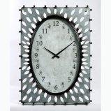 Затрапезно - шикарные квадратные часы стены металла
