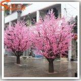 공장 가격 싼 인공적인 복숭아 꽃송이 나무