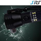 SRS 10 dans 1 lampe-torche rechargeable de DEL de lampe-torche du côté multifonctionnel 18650 DEL de pouvoir