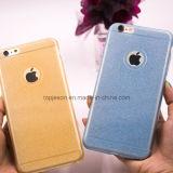 Caja suave del teléfono celular de la chispa de Bling del silicio ultra fino del brillo para el iPhone 6/6s/6 más