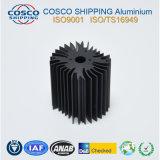 Überlegenes Aluminiumkühlkörper-Profil mit dem Schwarzeloxieren und der maschinellen Bearbeitung