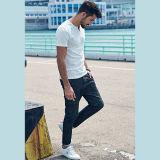 Späteste Entwurfs-Baumwollsommer-Hemden 100% für Mann-rundes Stutzen-Kurzschluss-Hülsen-T-Shirt