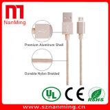 Cable de datos adaptable androide trenzado de nylon del USB de la longitud del teléfono móvil del cable micro del USB
