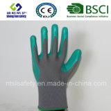 Раковина полиэфира с покрынными нитрилом перчатками работы (SL-N103 ()