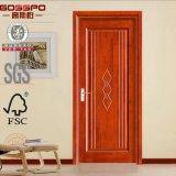 Puerta de madera interior del MDF de la chapa del roble rojo (GSP8-016)