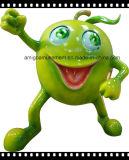 Игрушка украшения стеклоткани зеленого Apple