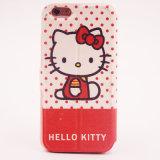 Cas en cuir neufs de Processhello Kitty de tension avec l'iPhone de cas de Kickstand 6 6plus 7 7pluscover