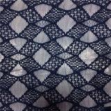 Tessuto del merletto ricamato modo classico del velluto