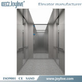 El elevador casero del pasajero con el espejo grabó al agua fuerte el acero inoxidable
